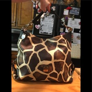 D&B Giraffe Print Leather Hobo Shoulderbag